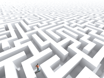 maze image to show need for SPREO location based navigation app