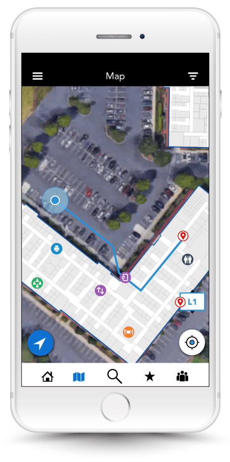 mobile app for outdoor and indoor wayfinding