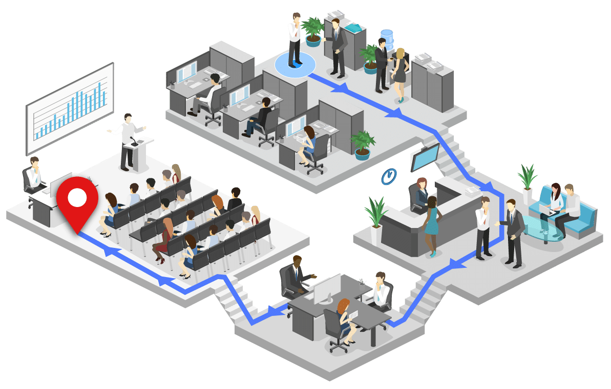 indoor location and workplace mapping technology